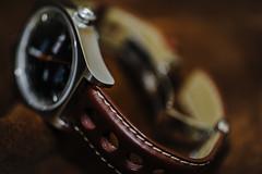 time is up (koolandgang) Tags: stitch macromondays watch tissot leatherwatchstrap tissotvisodateseastar tissotpr516gl depthoffield timepiece bokeh nikon105vrmicro nikond700 nikonsb900 nikonsb700 indoor automaticwatch