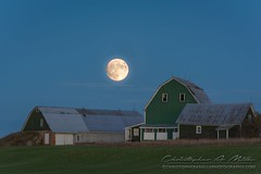 Supermoon (Christopher A Mills Photography) Tags: supermoon maine beautiful christopheramills moon barn landscape explore