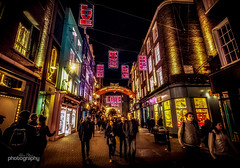 Carnaby Christmas Lights (Alex Chilli) Tags: carnaby street london night photography lights christmas signs love kiss buildings people shops canon eos 70d colour 2016 england cool trendy uk