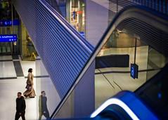 Underneath Platform 6 (memories-in-motion) Tags: bahn bahnwelten public transport people street zeiss pancolar mft olympus em5 bokeh manual blue lines travel