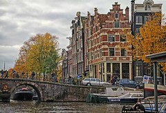 17th Century Architecture along the Brouwersgracht (PhotosToArtByMike) Tags: amsterdam centrum stepgable architecture 17thcentury centercity netherlands brouwersgracht dutch holland