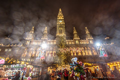 Christmas magic at the Vienna townhall (P & Y Photography) Tags: architecture city people shops lights night evening cityscape nightscape travel europe austria vienna wien sterreich nightlights outdoor tourism tourists colors red yellow orange chirtsmasmarket xmas cristkindlmark rathaus townhall tree illumination building decorations downtown innenstadt oldtown romanesque art rain photography photographers wideangle canon 6d 1635 weihnacht froheweihnachten flare blur europa market advent