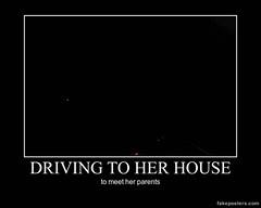 Driving to her house (Chikkenburger) Tags: memebase memes verydemotivational workharder notsmarter demotivational posters cheezburger chikkenburger
