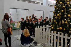 St Patricks School singers (James O'Hanlon) Tags: ken dodd kendodd st johns market liverpool opening officially characters singing choir tickling stick malcolmkennedy stjohnsmarket event