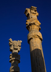 Ancient columns in the gate of all nations in persepolis, Fars province, Marvdasht, Iran (Eric Lafforgue) Tags: 0people achaemenid archaeology architecture clearsky colorimage column culture day heritage history iran iranianculture marvdasht middleeast nopeople nobody orient outdoors palace persepolis persia photography pillar ruins shiraz sunny takhtejamshid travel traveldestinations unescoworldheritagesite vertical farsprovince ir