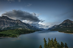 Waterton Lakes NP (angie_1964) Tags: watertonlakes np nationalpark alberta canada nikond80e water lake clouds mountains landscape seascape nature explore