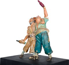 1960s Pirates of the Caribbean maquette - Two Drunk Pirates - side (Tom Simpson) Tags: piratesofthecaribbean disney disneyland 1960s vintage maquette sculpture pirate pirates imagineering vintagedisney vintagedisneyland