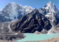 Tabuche and Cholatse (David R Edgar) Tags: tabuche taboche cholatse mountainlake himalayas lake mountains rock glacier bluesky khumbu nepal dzongla dzonghla