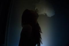 Dark Paradise (andrewgremp) Tags: smoke vape sony sharp blue lowlight low key female subject beatuiful a6000 dark portrait lifestyle young sexy