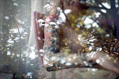 film (La fille renne) Tags: film analog 35mm lafillerenne zenite nikonfm 50mmf18 fujifilm fujicolor100 mx doubleexposure multipleexposure swap filmswap khnhhmoong blueregard louiseblueregard nature trees model woman skin