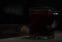 ( ) Tags: tea drink cup black dark wood