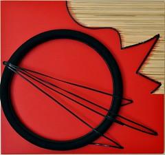 La mente mente (Daniela Bellofiore Artista) Tags: interni quadri rosso sole arte riciclo nero pittura scultura