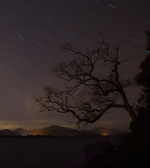 Loch Lomond at night (reiver iron - RMDPhotos.co.uk) Tags: loch lomond night star trails long exposure trossachs scotland