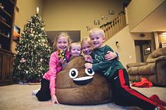 365 Project - Nov 30 (lupe1515) Tags: poop emoji bean bag olivia hannah aj henry 365 project siblings