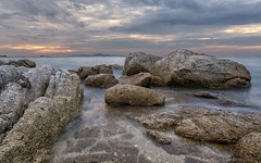 Sunset in Pattaya, Thailand (digiphoto.nl) Tags: thailand longexposure rocks littlestopper pattaya leefilter sea 5dmkiv