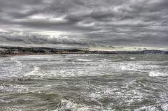 Paignton Pier (Ray. Hines) Tags: pentaxk5 smcpentaxda18135mmf3556edalifdcwr paignton paigntonpier 3shothdr photomatix nikcolorefex sea waves beach torbay clouds