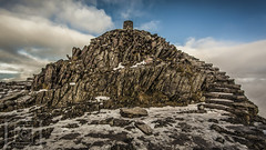 Snowdon summit (Gav Jones Landscape & Nature Photography) Tags: snowdon snowdonia trigpoint steps 1068 summit pyg ranger miners winter ice snow clouds sky view