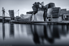 50 Seconds of Grey (katrin glaesmann) Tags: bilbao bilbo basquecountry spain bizkaia puentelasalve princeandprincessofspainbridge juanbatanero danielburen larcrouge arcosrojosarkugorriak frankogehry museoguggenheimbilbao guggenheimbilbaomuseoa salbekozubia guggenheimmuseumbilbao maman louisebourgeois fujikonakaya talltreeandtheeye anishkapoor campadelosingleses monochrome blackandwhite longexposure