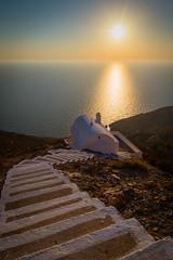 // small church outside Olympos village, Karpathos, Greece (Spiros Vathis) Tags: sunset sea sky sun church stair aegean greece gr olympos karpathos  egeo olimpos    olymbos scarpanto  aegiansea  olimbos