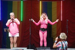 "Jazmin and Trixie Lyx on stage at PLymouth Pride 2015-1 • <a style=""font-size:0.8em;"" href=""http://www.flickr.com/photos/66700933@N06/20604223906/"" target=""_blank"">View on Flickr</a>"