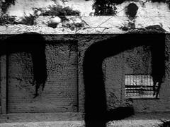 Urban Surrealism 2015 2 (Rossdxvx) Tags: urban blackandwhite usa abstract building art texture silhouette oregon portland graffiti se nw noir shadows northwest grim decay surrealism urbandecay lofi surreal overlay gritty textures pacificnorthwest southeast grime westcoast dilapidation decaying blight dilapidated textured seedy 2015 blackwhitepassionaward