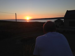 Admiring the sunset (AlanJ97) Tags: ireland sunset summer clare lahinch admiring surfcity lehinch