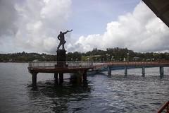 Rajiv Gandhi statue at Aberdeen jetty, Port Blair (magiceye) Tags: india port islands jetty aberdeen gandhi blair andaman rajiv