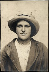 Sarah Cuthill, arrested for stealing clothes (Tyne & Wear Archives & Museums) Tags: portrait eye girl hat youth mouth newcastle nose costume clothing interesting coat fine grain young deception property blouse clothes criminal crime gloves teenager mugshot ribbon unusual ww1 silkscarf dailylife scratch theft policestation crease firstworldwar arrested arrest stealing prisoner homefront fascinating digitalimage withdrawn charges larceny lodgings blackborder northshields socialhistory 5 offence courtcase blackandwhitephotograph admitted criminalrecord annieclark neutralbackground cuthill elizabethfitzgerald newspaperreport easthedleyhope sarahcuthill northshieldspolicecourt 19021916 northshieldspolicestation northshieldslocalstudieslibrary whitleypolice shieldsdailynews criminalfacesofnorthshieldsfirstworldwar 20july1916 78princesstreet dectivesergthall 21postofficerow
