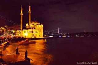 Midnight Ortaköy and Bosphorus Bridge
