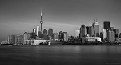 the city in black & white (martinaschneider) Tags: morning blackandwhite lake toronto ontario lakeontario
