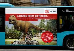Frankfurt, Am Hauptbahnhof, Reklame fr DB-Fahrrder - ad for Deutsche Bahn bikes (HEN-Magonza) Tags: frankfurtammain hessen hesse deutschland germany hauptbahnhof centralstation