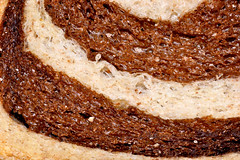 Marble rye (donjuanmon) Tags: macro texture closeup bread holes theme pan pane hmm brot roti naan taro 麵包 ain brood ekmek パン brød хлеб panem ψωμί macromondays marbledrye ขนมปัง donjuanmon