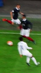 A blur of football (Ben Sutherland) Tags: france wembley lamarseillaise englandvfrance liberteegalitefraternite frenchteam frenchfootball frenchfootballteam frenchfootballfederation francefootballteam parisattacks francefootballfederation