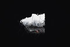 RVA Through the Cracks (Joey Wharton) Tags: city building fog outdoors virginia cityscape richmond va rva