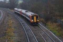 Clay Cross (Diesel Dude.) Tags: uk england mist fog canon eos flickr diesel derbyshire trains east norwich dslr emt dull chesterfield midlands dmu class158 liverpoollimestreet 100d claycross 0952 eastmidlandstrains 158773 158847 1l08
