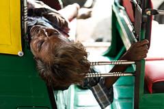 (Jordy B) Tags: india man colors asia sleep couleurs streetphotography asie rickshaw dormir kolkata calcutta homme inde sieste westbengal northindia travelphotography dormeur indedunord northemindia