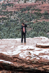 Meta (Styggiti) Tags: travel winter arizona usa snow arch desert hiking sedona naturalbridge lemonjelly devilsbridge 2015