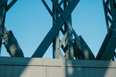 Bridge (JacksonSwaby) Tags: wood bridge blue sky metal structure