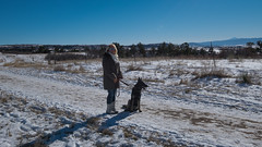 Winter Walk (Dominic Sagar) Tags: winter sky dog pets snow us colorado unitedstates outdoor path walk lisa zia germanshepherd alsatian pikespeak littleton
