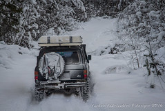 plowing new trail (fantomdesigns) Tags: new camping winter lake snow cold ice bc offroad 4x4 year valley 2016 2015 nahatlatch