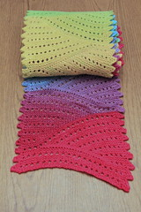 Volna Rolled Up (ChaucerCat) Tags: color rainbow knitting lace knit wave ombre yarn freia volna hardcandy ravelry
