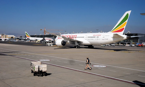 One of Ethiopian Airlines' four 787s. Nine more are on order.