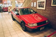 Historic Car Museum, Odaiba, Japan (joshua alderson) Tags: ae86 r32 odaiba skyline japan tokyo fujifilm fuji klassew analog 35mm film kasai rinkai park edo museum natura 1600