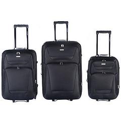 GLOBALWAY Expandable 3 PCs Luggage Travel Set Trolley Bag Suitcase 2 Wheels New (wupplestravel) Tags: expandable globalway luggage suitcase travel trolley wheels