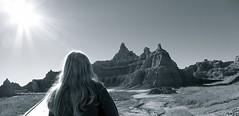 ... Badlands, South Dakota roadtrip (lindini2) Tags: badlands southdakota blonde hair rock formations