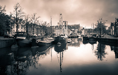 Noorderhaven (D.ROS) Tags: 2016 aa autumn black blue boat buildings center city clouds dark grass green groningen herfst houses leafs light magenta red ship sky stone street tower tree water white yellow