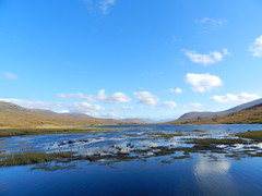 Loch Droma, Highlands of Scotland, Oct 2016 (allanmaciver) Tags: loch droma highlands scotland clouds blue sky weather reflections low water hydro scheme hills scenery allanmaciver