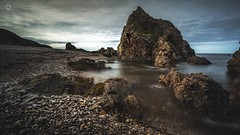 Pebble Cove (Augmented Reality Images (Getty Contributor)) Tags: canon clouds coastline findochty landscape leefilters littlestopper longexposure morayshire rocks scotland seascape tide water waves
