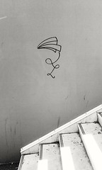 Lyon ... Part-Dieu ... (OneDjiP) Tags: lyon rhône 69 partdieu bw nb paperplane black white streetart blackandwhite