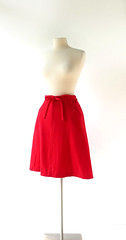 1960s scarlet wool flannel wrap skirt, from Bobbie Brooks (Small Earth Vintage) Tags: smallearthvintage vintagefashion vintageclothing skirt 1960s 60s wrapskirt scarlet red woolflannel bobbiebrooks